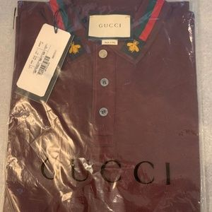 GUCCI MEN POLO SHIRT NEW WITH TAGS MEDIUM